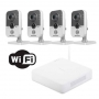 MKCUBOWIFI - Sistema de 4 Canales WIFI Hikvision, 3 Megapixel WDR IR